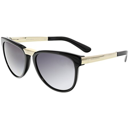 Dolce & Gabbana Women's DG4257-501/8G-54 Black Oval Sunglasses