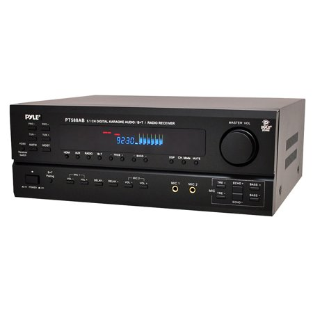 PYLE PT588AB - 5.1 Channel Home Theater AV Receiver, BT Wireless Streaming (HDMI, 4K Ultra & 3D TV Pass-Through