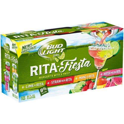 Bud Light Lime Rita-Fiesta Malt Liquor Variety Pack, 8 fl oz, 18 pack