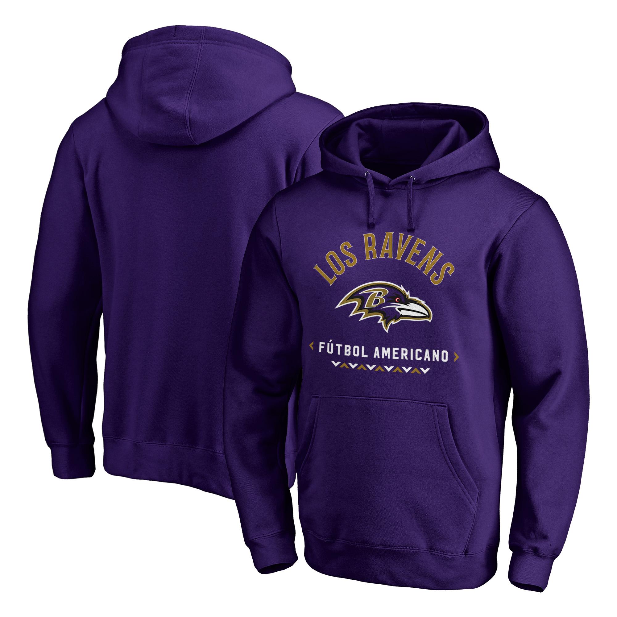 Baltimore Ravens NFL Pro Line by Fanatics Branded Futbol Americano Pullover Hoodie - Purple