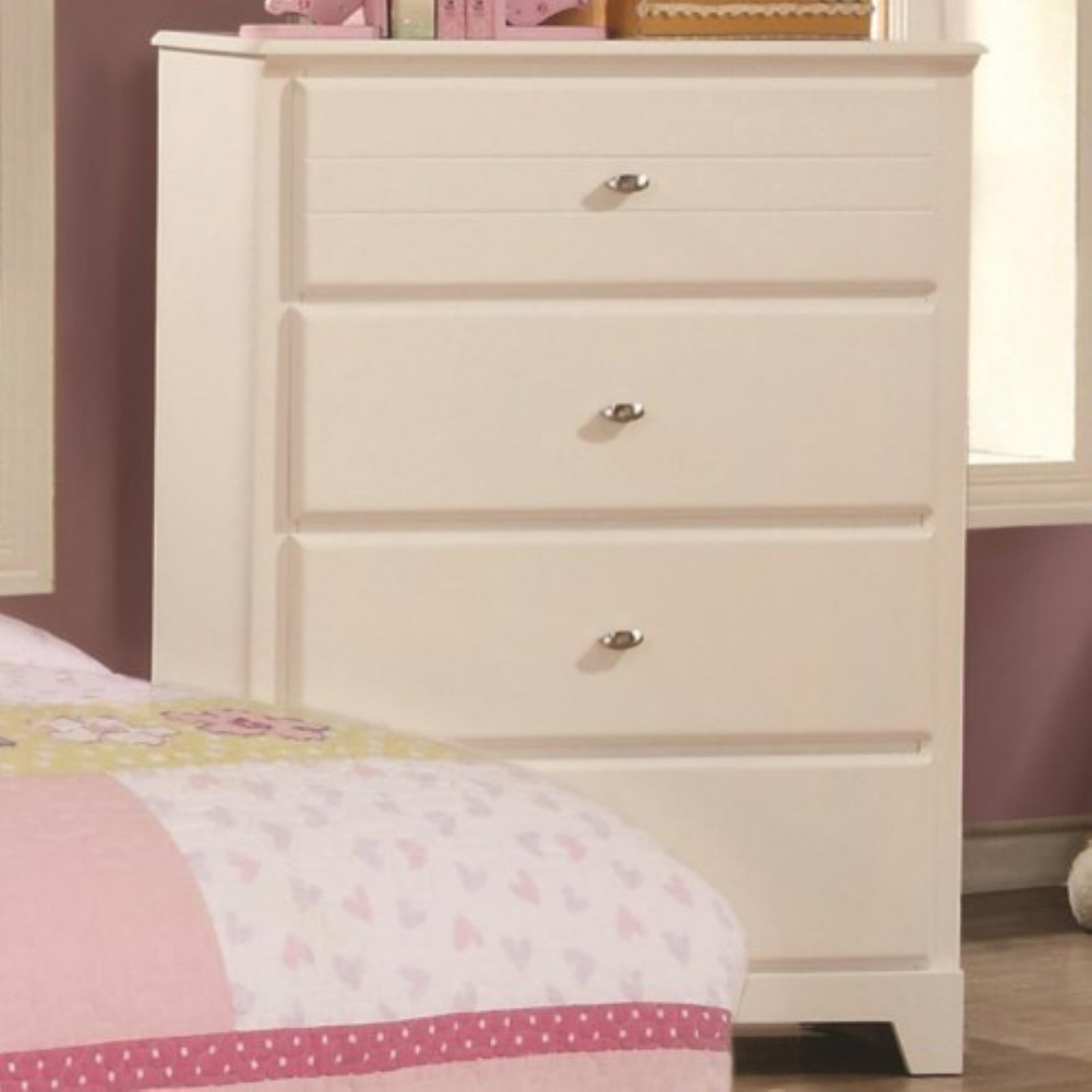 Coaster Company Ashton 4 Drawer Chest, White