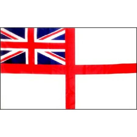 3x5 British White Ensign Flag United Kingdom St George Banner UK Royal Navy New ()