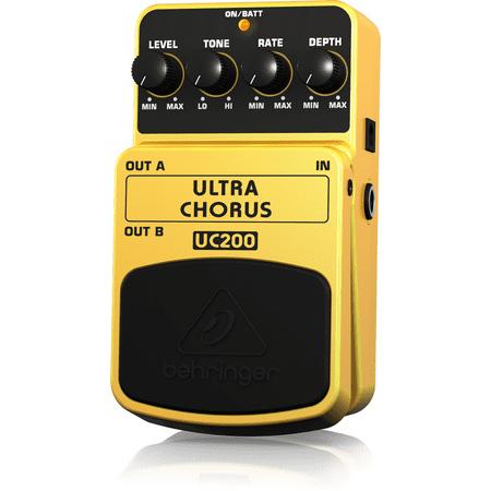 Behringer ULTRA CHORUS UC200 Ultimate Stereo Chorus Effects (Fender Chorus Pedal)