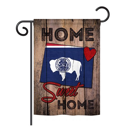 Ornament Collection - State Wyoming Home Sweet Home Americana - Everyday States Impressions Decorative Vertical Garden Flag 13