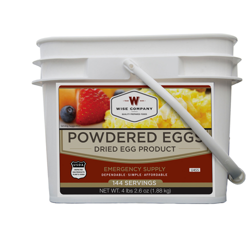 Wise Foods Powdered Eggs In a Bucket 144 Servings SKU: 05-516 with Elite Tactical Cloth