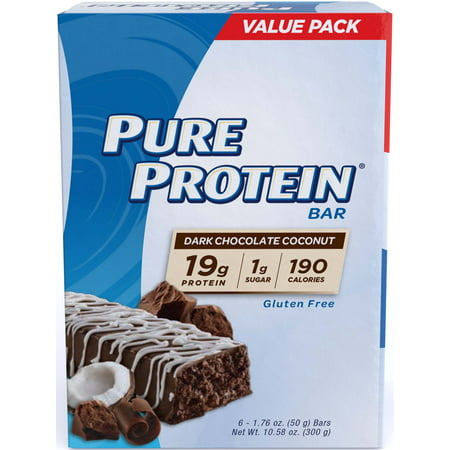 Pure Protein® Dark Chocolate Coconut, 50 gram, 6 count
