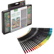 Crayola Signature Blend & Shade Colored Pencil Set with Decorative Tin, Gift - 50 Count