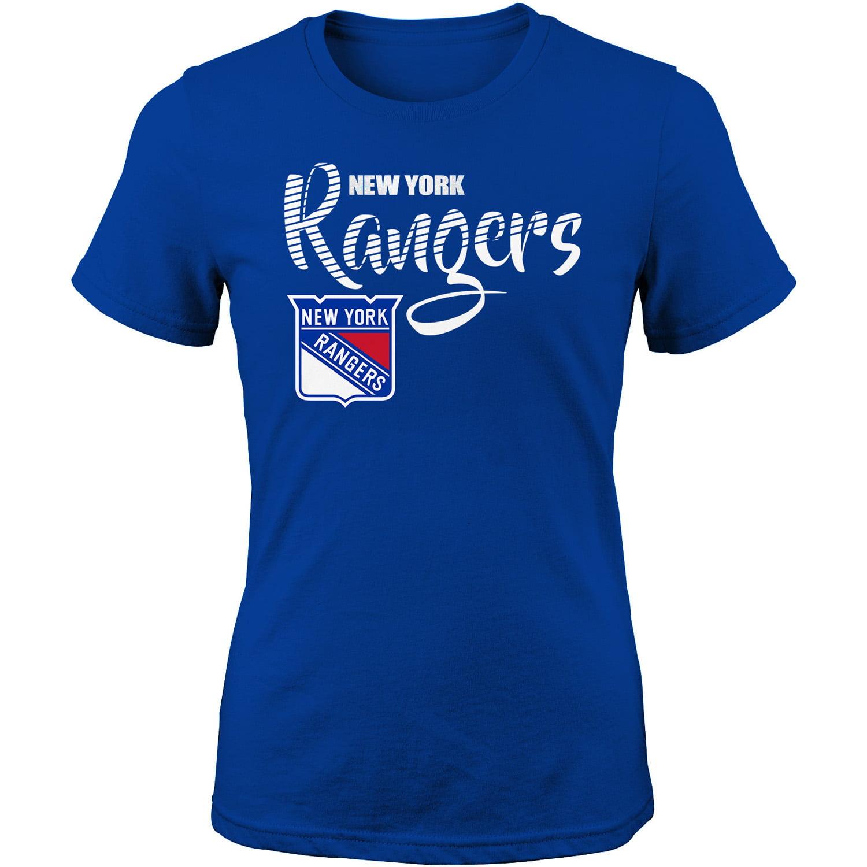 Girls Youth Blue New York Rangers T-Shirt