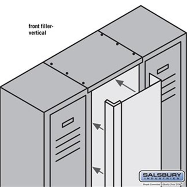 Salsbury 77855TN 15 in. x 5 ft. Front Filler Vertical for Metal Locker, Tan - image 1 of 1