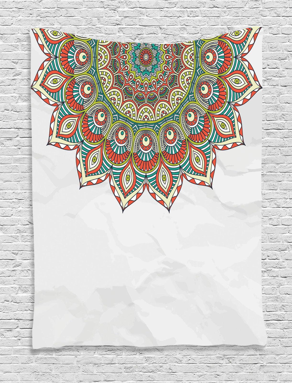 Mandala Decor Wall Hanging Tapestry, Arabesque Style Mandala Pattern With... by Kozmos