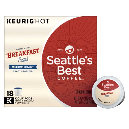 Seattle's Best Coffee Breakfast Blend Medium Roast Single Cup Coffee for Keurig Brewers, Box of 18 (18 Total K-Cup