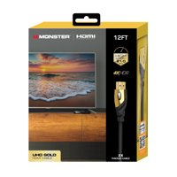 Monster Ultra HD Gold HDMI 2.0 Cable  12ft