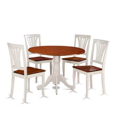 furniture 5 piece dining set with kitchen table and 4 kitchen chairs
