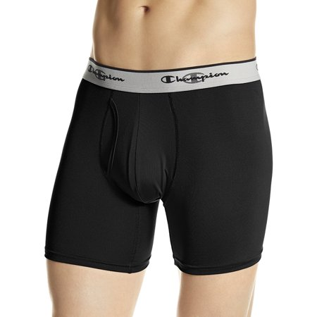 Men's Tech Performance Boxer Brief, Black, Small By Champion
