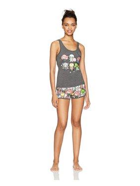 Product Image Marvel Comics Women s 2-Piece PJ Shorts Sleepwear Set- Groot acf68b422