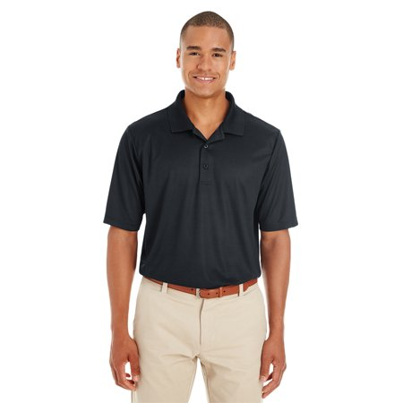 A Product of Ash City - Core 365 Men's Express Microstripe Performance Piqué Polo - BLACK/ CRBN 703 - L [Saving and Discount on bulk, Code - Party City Discount Code