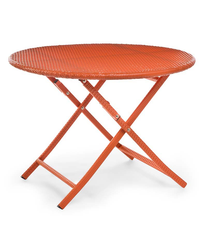Colorful Wicker Folding Bistro Table