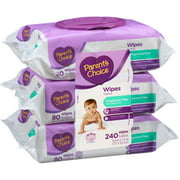 Parent's Choice Fragrance Free Baby Wipes, 80 sheets, 3 count
