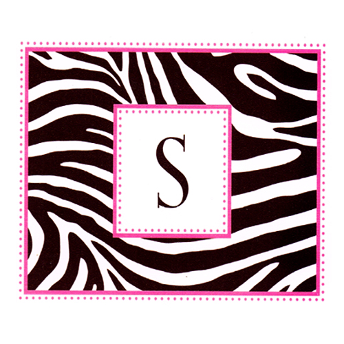 Zebra Stripes 'Pink and Black' Animal Print Note Cards w/ Envelopes (8ct)