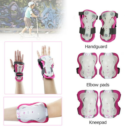 CoastaCloud 6PCS Wrist Elbow Knee Skateboard Safety Pads for Kid's Children  Boys Girls Protective Gear Outdoors Sports Cycling Blading Roller for Bicycle Gear Guard Skating, Scooter ,Cycle - Roller Skating Decorations