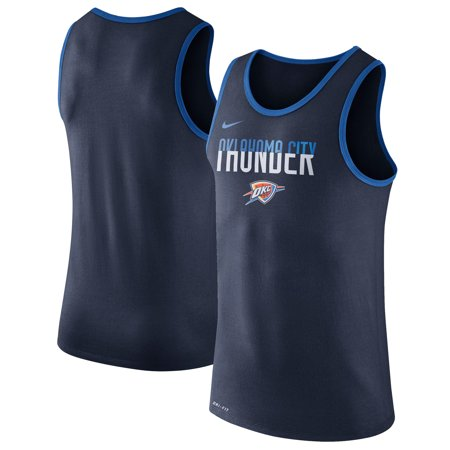 Nike T-shirt Tank Top (Oklahoma City Thunder Nike Logo Performance Tank Top - Navy )