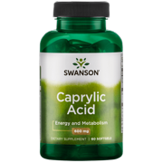 Swanson Caprylic Acid 600 mg 60 Softgels