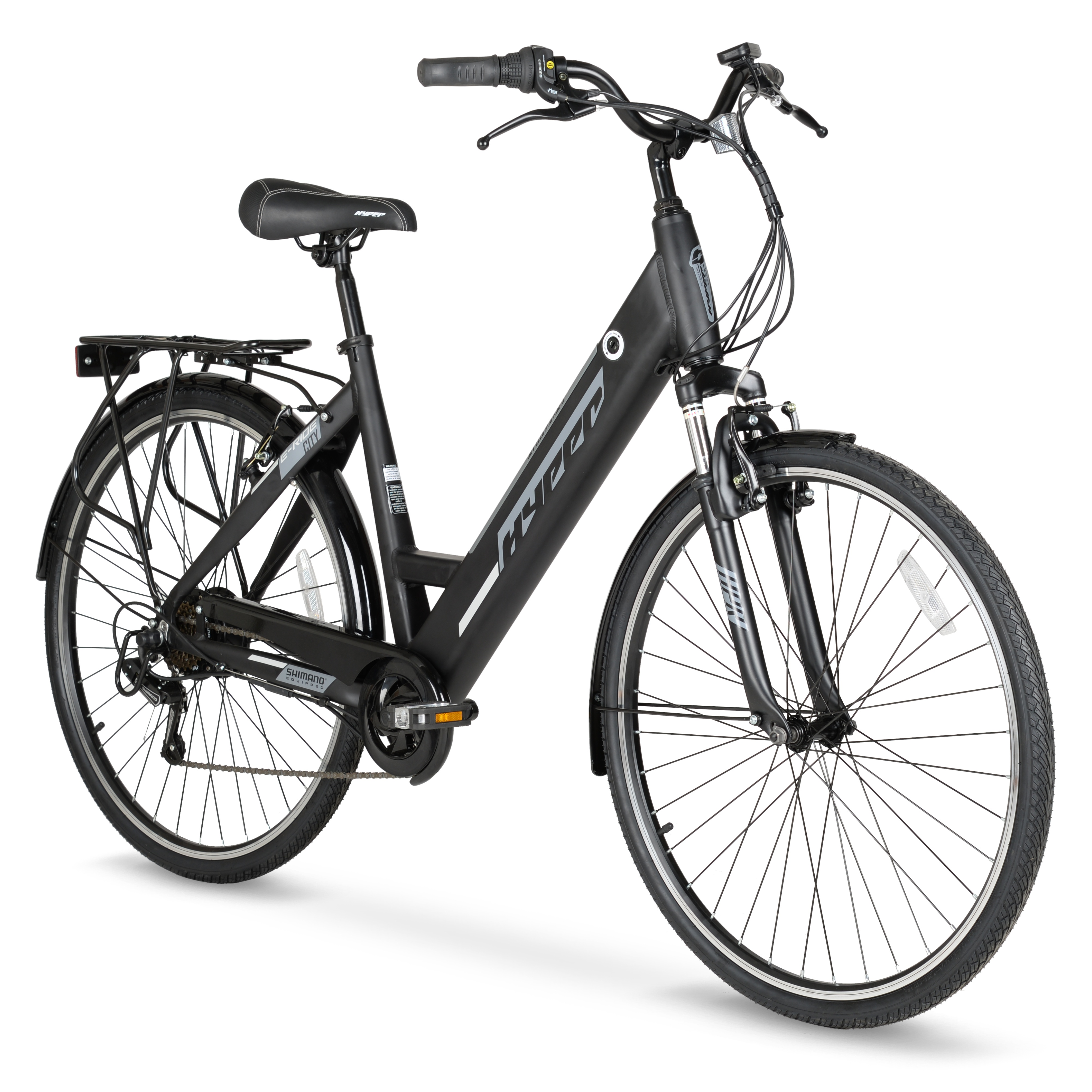 Hyper E-Ride 700C Wheels Electric Bike (Black)