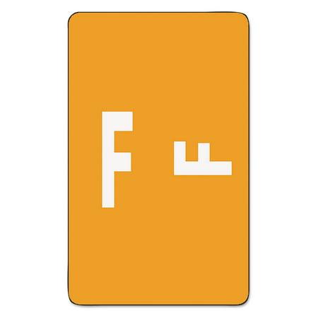 - Alpha-Z Color-Coded Second Letter Labels, Letter F, Orange, 100/Pack