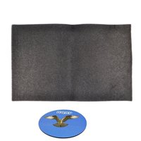HQRP Replacement Window Air Conditioner Foam Filter, 24-Inch x 15-Inch x 1/4-Inch + HQRP Coaster