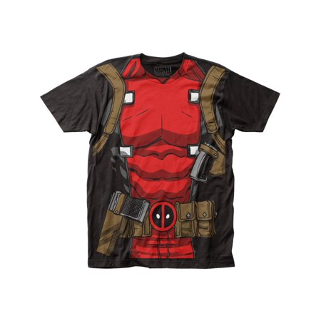 Dead Pool Suit (Marvel Comics Deadpool Muscle Suit Adult Black Subway T-Shirt)