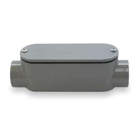 CANTEX 5133103 Conduit Outlet Body,PVC,C
