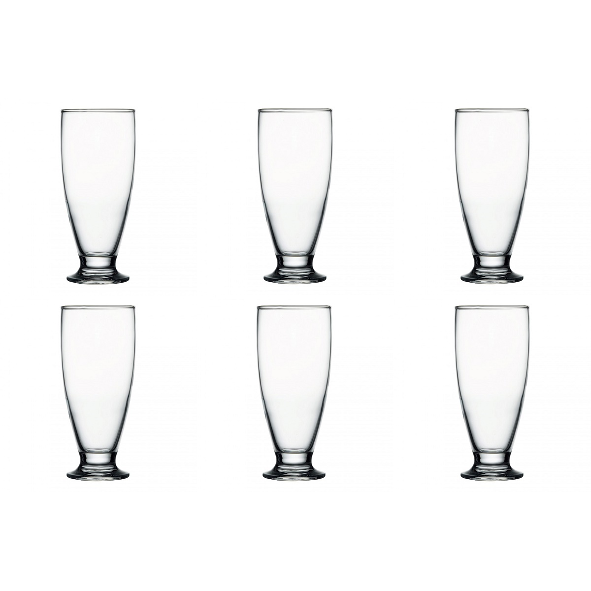6 Cardinal Pasabahce Footed Highball Pilsner Cocktail Glasses 7.5oz 205929 Set by