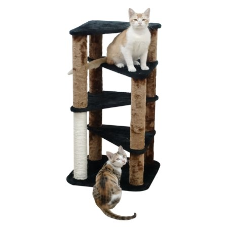 Go Pet Club 33 in. Cat Tree with Perch (Black Cat Halloween Tree)