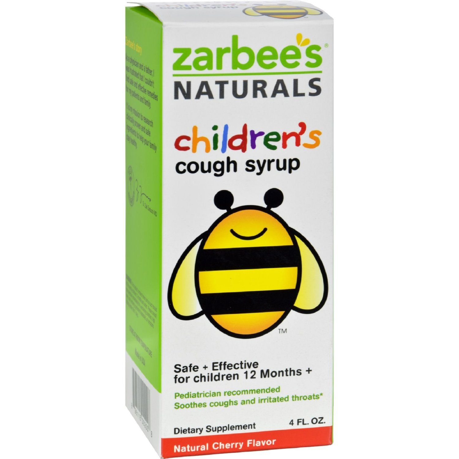 3 Pack ZarBee's Naturals Children's Cough Syrup Natural Cherry Flavor 4 oz Each