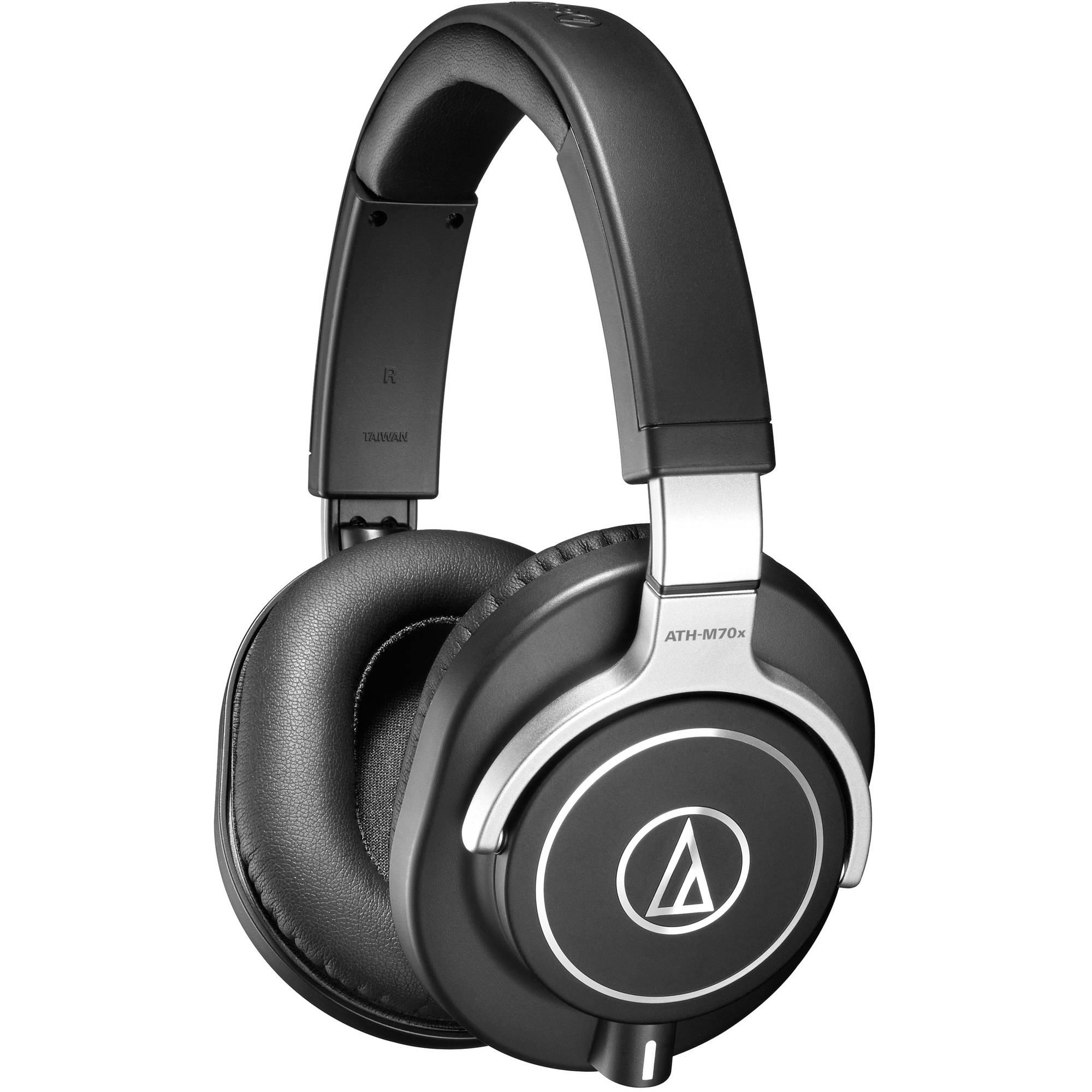Audio-Technica ATH-M70 Closed Back Monitor Headphones w/ 2 Black Cables
