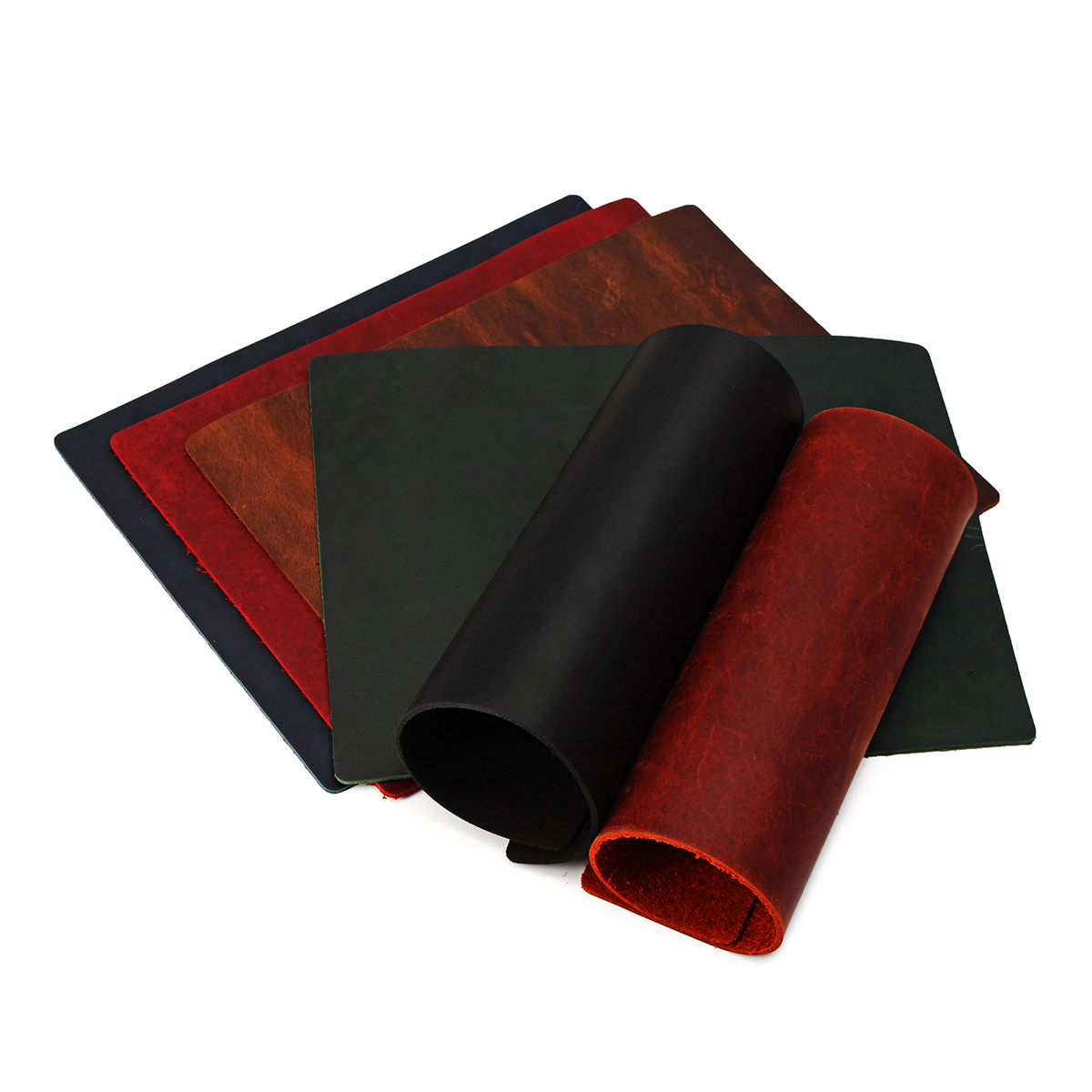 """Meigar 9''x7"""" Vintage Leather Thick Hide Cowhide Leather  for All Types of Crafts and Art"""