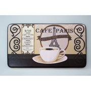 Chef Gear Caf?? Paris Faux Leather Anti-Fatigue Cushioned Chef Mat