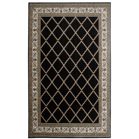 International merchandise services area rug provence black for International home decor rugs