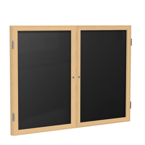 Ghent Ghent 2 Door Enclosed Letter Board with  Wood Frame