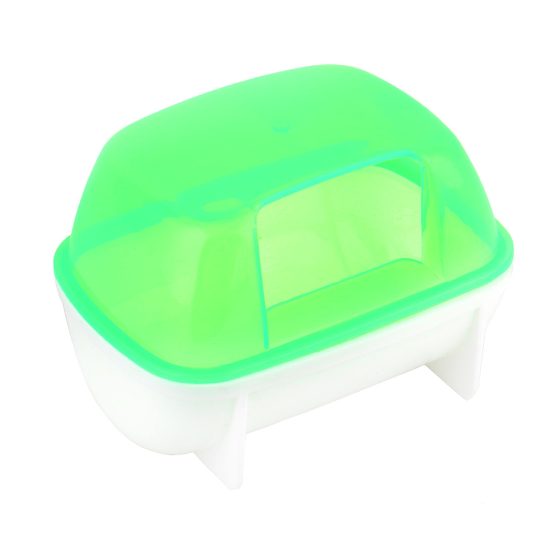Home Pet Plastic Gerbil Bathing Room Sand Cage Small Hamsters Bathroom Green by