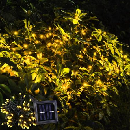 Yescom LEDs Solar Powered String Light Flash Static Lighting Modes Waterproof Colorful Outdoor Garde (Solar Led White Net)