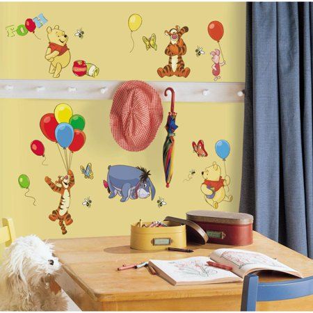 Eeyore Wall (Disney WINNIE THE POOH 38 Peel & Stick Wall Stickers Tigger Eeyore Room Decor Decals )
