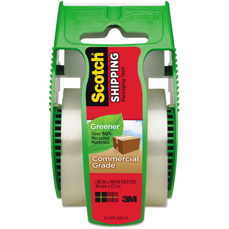"""Scotch 1.88"""" x 19.4 yd Greener Commercial Grade Packaging Tape, 1.5"""" Core"""