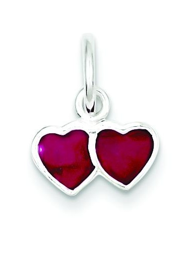Sterling Silver Heart Cluster Charm Pendant Love