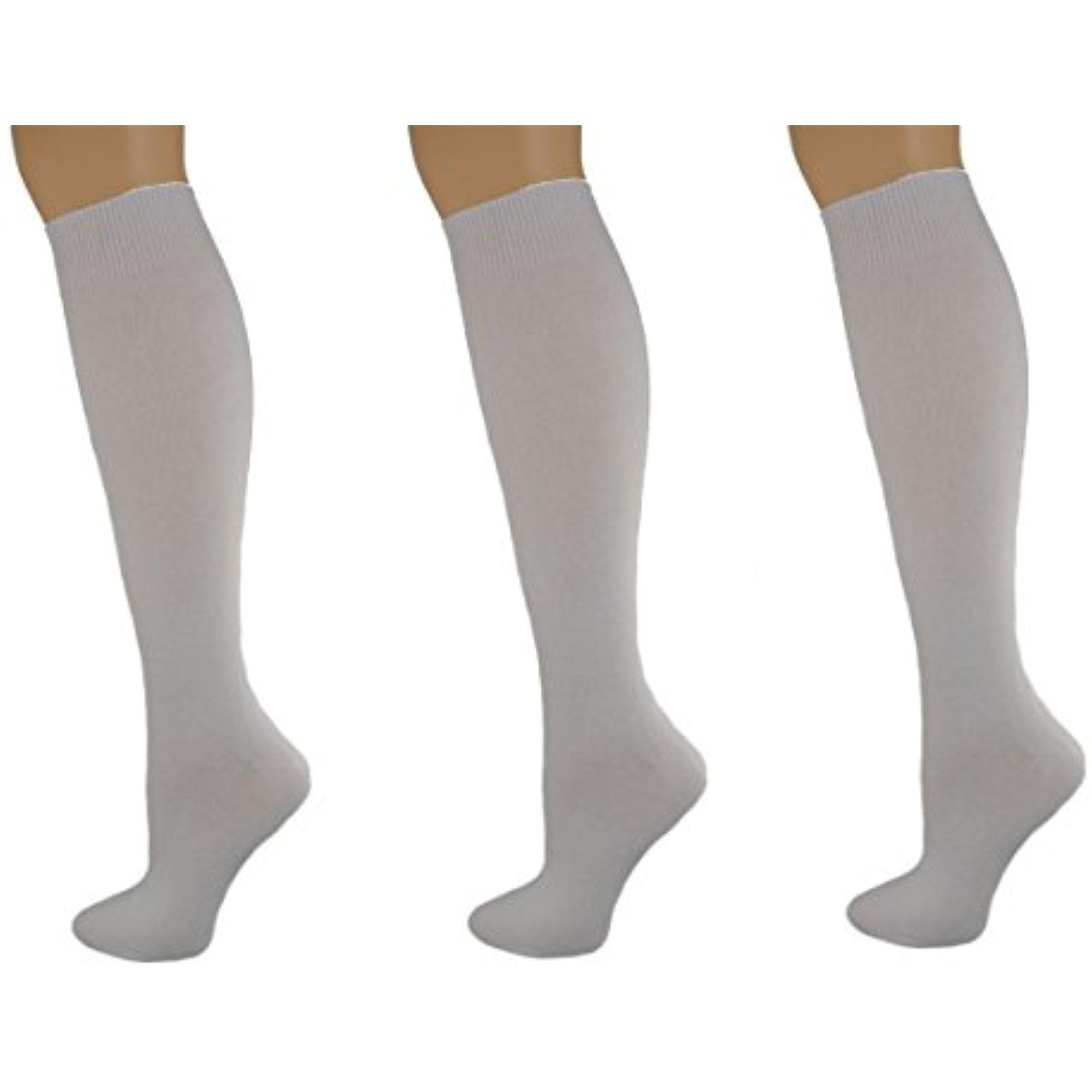 fbc783d6112 Sierra Socks - Sierra Socks Girl s School Uniform Knee High 3 pair Pack Cotton  Socks G7200 (S Shoe Size 9-1