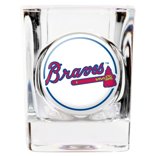 Atlanta Braves Official MLB Square Shot Glass by Great American Products 769517 by Great American Products
