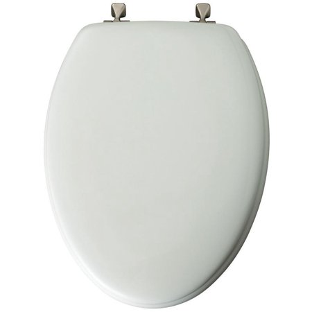 Mayfair 144BN000 Long-Lasting Toilet Seat, For Use With Elongated Bowls, Molded Wood, White
