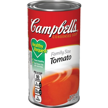 - (2 Pack) Campbell's Condensed Healthy Request Family Size Tomato Soup, 23.2 oz. Can