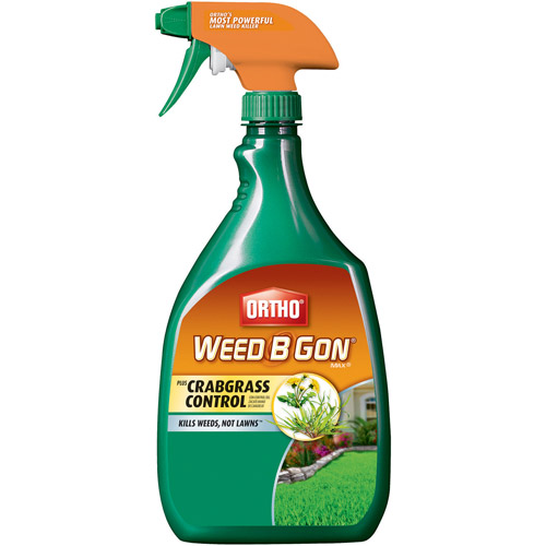 Ortho Weed B Gon MAX Plus Crabgrass Control Weed Killer for Lawns Ready-To-Use, 24 oz
