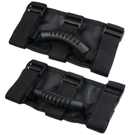2Pcs Roll Bar Grab Handles For Jeep Wrangler Cj Yj Tj Jk 1955 2016 Black